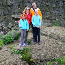Standing on a ancient flow of pahoehoe